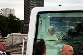 die Päpste Reise zum Hyde Park im Zentrum von London 18. September 2010