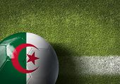 stock photo of algiers  - Algeria ball on green grass background - JPG