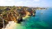 pic of lagos  - Aerial from natural rocks near Lagos in Portugal - JPG