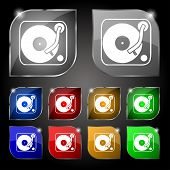 image of jukebox  - Gramophone vinyl icon sign - JPG