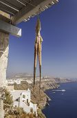 pic of greek-island  - A squid hanging out to dry in the sun on the greek island of Santorini - JPG