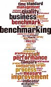 picture of benchmarking  - Benchmarking word cloud concept - JPG