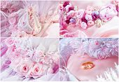 Wedding Pink Flowers Collage
