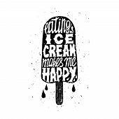stock photo of eat me  - Icecream trendy poster - JPG