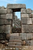 Ancient stone sun gates in Sacsayhuaman