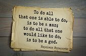 Постер, плакат: French emperor great general Napoleon Bonaparte 1769 1821 quote To do all that one is able to do