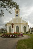 stock photo of acadian  - The Acadian mother church in southern Louisiana - JPG