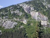 Train In White Pass Alaska