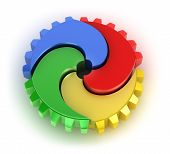 image of color wheel  - Teamwork colorful concept - JPG