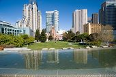 stock photo of soma  - Yerba Buena park in San Francisco CA - JPG