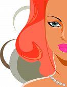 Close up portrait of woman face