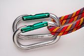 Mountaineering: Doubled Oval Aluminium Carabiners (Unsafe! See Other Picture)