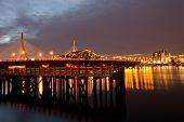 Charles river at night