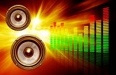 Two Speakers On Abstract  Background