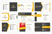 Set Of Modern Business Card Print Templates. Personal Visiting Card With Company Logo. Vector Illust poster