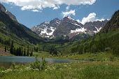 pic of colorado high country  - maroon bells and maroon lake in the white river national forest near aspen - JPG
