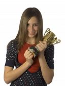 Teen Holding Trophy Up