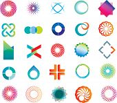set of corporate logos symbols and marks