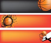 basketball strip template set with space for text, ideal for web banner