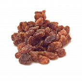 Pile Of Sultanas Isolated On White