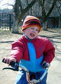 Boy In A Red-Dark Blue Jacket