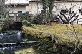 Obsolete Watermill And Mill-race With Water