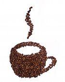 Mug Shaped Coffee Beans