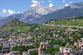 Sion City Capital Of The Canton Of Valais