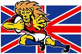 British lion rugby player flag