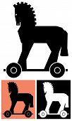 Dekorative Trojanisches Pferd