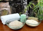 Spa Pedicure Ingredients With Scenic Waterfall; Includes Mineral Soak Salts, Cream Or Lotion, Scente