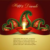 Artistic Indian diwali festival vector art