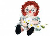 rag doll with daisies