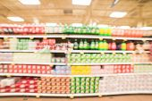 Abstract Blurred Background Soft Drinks Aisle In American Store poster