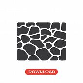 Stones Floor Vector Icon Flat Style Illustration For Web, Mobile, Logo, Application And Graphic Desi poster