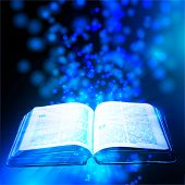 book illuminated the mystical light