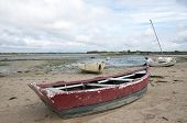 Rowing boat on a beach