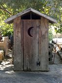 Old Fashioned Outhouse poster