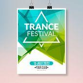 Постер, плакат: Trance Dance Music Poster Music Party Flyer Banner Design Disco Night Club Event Template
