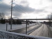 Snowy Highway Fence