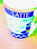 Bright Latte Cup Coffee