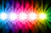 image of prism  - Several bright shinning lights beaming prism colors - JPG