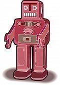 Robô de brinquedo vintage