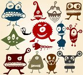 Many cute doodle monsters Set 2