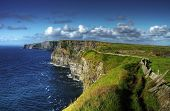 pic of cliffs moher  - Idyllic view for Irish Cliffs of Moher - JPG