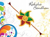 Abstract Raksha Bandhan Floral Background