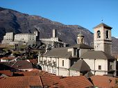 Bellinzona Castle And Church