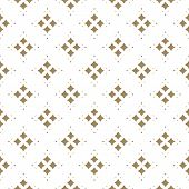 Vector Golden Ornamental Pattern In Asian Style. Abstract Geometric Seamless Texture With Floral Sha poster