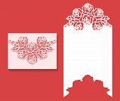 Laser Cut Envelope Template For Invitation Wedding Card1.eps poster