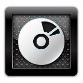 CD DVD metal icon
